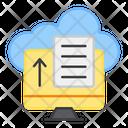 Cloud File Uploading Cloud Docs Uploading Cloud Paper Uploading Icon