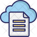 Cloud files Icon