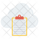 Cloud Document Clipboard Icon