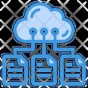 Files Storage Data Cloud Icon