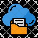 Cloud Files Storage Icon