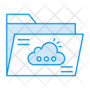 Cloud Folder Archive Icon