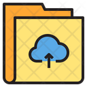 Upload Cloud Folder Icon