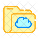 Computer Folder Cloud Icon