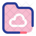 Cloud Folder Storage Computing Icon