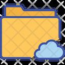 Cloud Folder Storage Icon