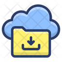 Cloud Folder Download Icon
