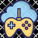 Cloud Gaming Gamepad Cloud Computing Icon