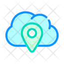 Gps Location Cloud Icon