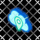 Gps Location Cloud Icon