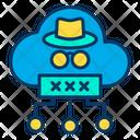 Cloud Hacker Cloud Computing Cloud Structure Icon