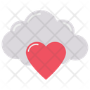 Cloud Heart Favourite Star Icon