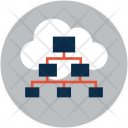 Cloud Hierarchy Structure Icon