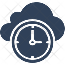 Cloud Clock Cloud Computing Schedule Icon