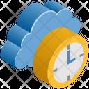 Cloud Computing Clock Icon
