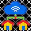Cloud Home Connection Cloud Server Home Icon