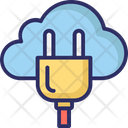 Cloud Hosting Cloud Computing Power Plug Icon