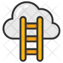 Cloud Hosting Ladder Icon