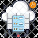 Cloud Dataserver Cloud Hosting Cloud Computing Server Icon