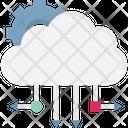 Big Data Cloud Computing Cloud Computing Network Icon