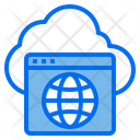 Hosting Cloud Technology Icon