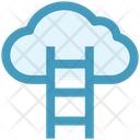 Cloud Hosting Stairs Cloud Computing Icon