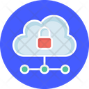 Cloud Hosting Cloud Network Hybrid Cloud Icon
