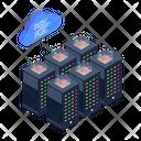 Server Network Server Room Cloud Servers Icon