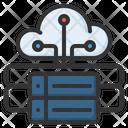 Cloud Hosting Cloud Database Icon