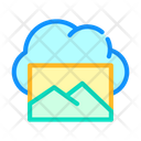Pictures Cloud Storage Icon