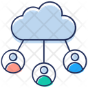 Cloud Interconnection Collaboration Cloud Technology Icon