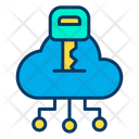 Cloud Key Secure Cloud Secure Data Icon