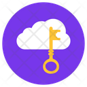 Cloud Key Access Key Cloud Password Icon