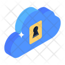 Cloud Key Cloud Access Cloud Protection Icon