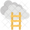 Cloud Ladder Stairway Icon