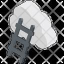Cloud Ladder Cloud Stairway Ladder To Cloud Icon