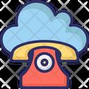 Cloud Landline Icon