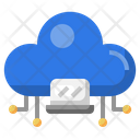 Cloud Laptop Laptop Cloud Dat Icon