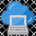 Laptop Storage Cloud Icon