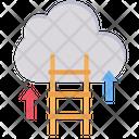 Cloud Ledder Growth Icon