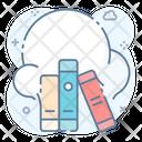 Digital Library Ebooks Education Cloud Icon