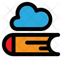 Cloud Library Study Internet Course Icon