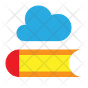 Cloud Library Digital Library Elearning Icon