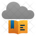 Cloud Library Book Digital Icon