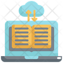 Cloud Library Online Icon