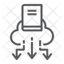 Cloud Library Education Icon
