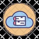 Cloud Library Cloud Study Digital Icon