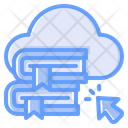 Cloud Library Digital Library Cloud Book Icon
