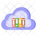 Digital Library Cloud Library Cloud Books Icon