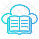Cloud Library Cloud Education Elearning Icon